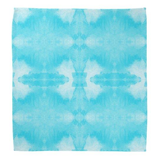 waterverf blauwgroen patroon bandana