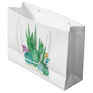 Waterverf, cactus, succulents groot cadeauzakje
