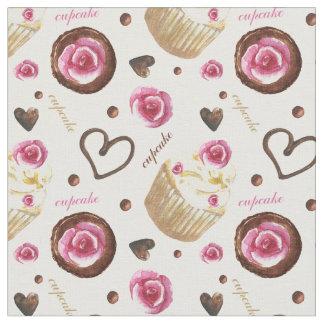 Waterverf cupcakes stof