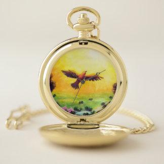 waterverf die vintage adelaar schilderen die in zakhorloge