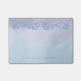 Waterverf Paarse Blauwe | Faux schittert Post-it® Notes