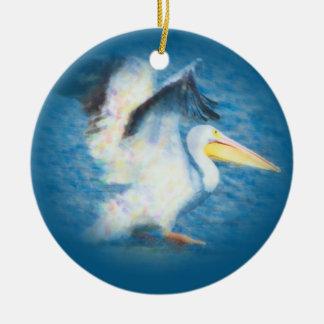 waterverf pelikaan 17 ornament