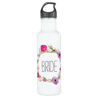 Waterverf van de Kroon van de bruid de Bloemen Waterfles