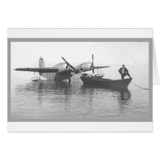 watervliegtuig en boot briefkaarten 0