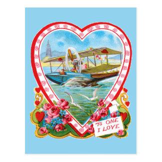 Watervliegtuig Valentijn Briefkaart