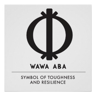 Wawa Aba | Symbool Adinkra van Hardheid Poster