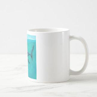 """""""Wayne"""" de Grote Witte Haai Koffiemok"""