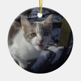 Wazzap? Rond Keramisch Ornament