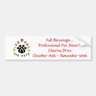wbloglargeA, het Professionele Huisdier… Bumpersticker