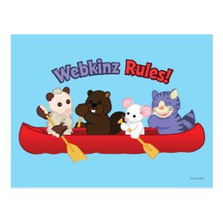 Webkinz | Reis 2 van de Kano van Regels Webkinz Briefkaart