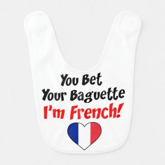 Wed Uw Baguette de Franse Slab van het Baby Slabbetje