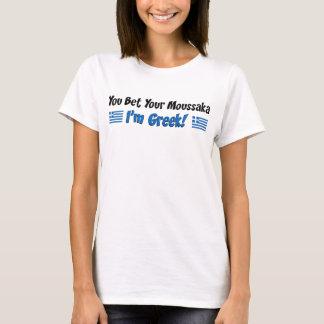 Wed Uw Moussaka het Grieks T Shirt