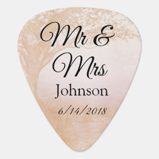 Wedding Souvenie van M. & van Mevr. Guitar Pick Plectrum