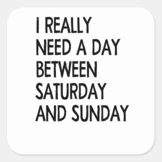 weekend vierkante sticker