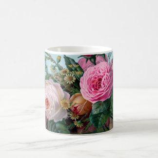 Weelderige Romantische Roze Botanische Rozen Koffiemok