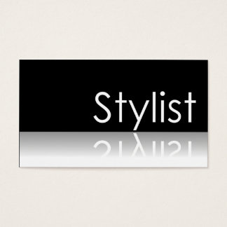 Weerspiegelende Tekst - Stilist - Visitekaartje Visitekaartjes