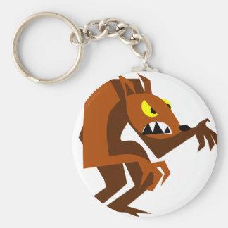 Weerwolf Basic Ronde Button Sleutelhanger