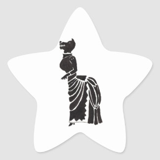 Weerwolf in een Kostuum Ster Sticker