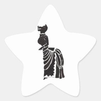 Weerwolf in een Kostuum Stervormige Stickers