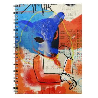 Wees Zwarte   mk - het Silhouet van het Masker van Notitieboek