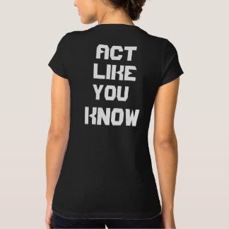 """Weet de Zwarte T-shirt """"Sexy Akte van de vrouw als"""
