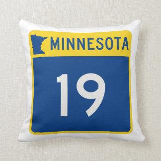 Weg 19 van de Boomstam van Minnesota Sierkussen