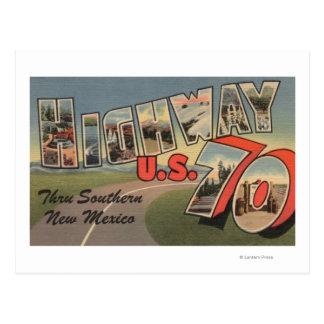 Weg 70 van New Mexico - de V.S. - Grote Brief Briefkaart