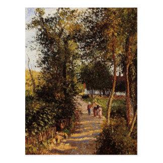 Weg aan berneval-le-Petit door Camille Pissarro Briefkaart