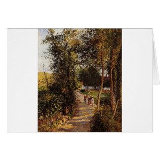 Weg aan berneval-le-Petit door Camille Pissarro Briefkaarten 0