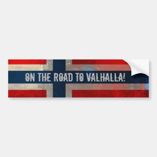 Weg aan de Sticker van de Bumper Valhalla Bumpersticker