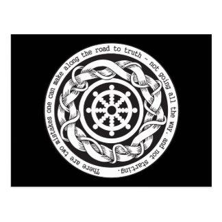 Weg aan het Wiel van Dharma van de Waarheid Briefkaart