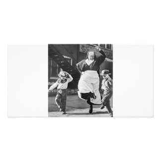 Weg dansend de dag gepersonaliseerde fotokaarten