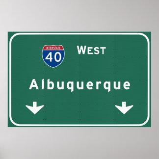 Weg de Tusen staten van Albuquerque New Mexico NM: Poster