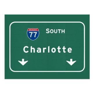 Weg de Tusen staten van Charlotte Noord-Carolina Briefkaart