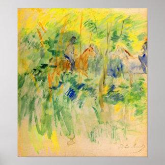 Weg in Bois de Boulogne door Berthe Morisot Poster