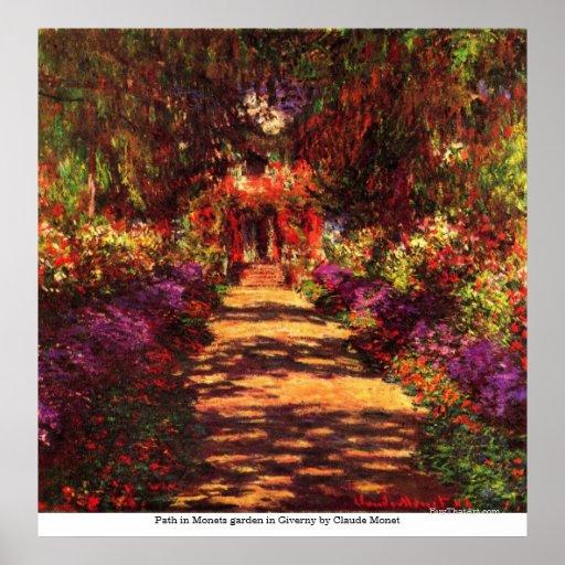 Weg in tuin Monets in Giverny door Claude Monet Print