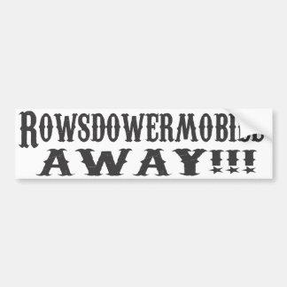 WEG Mobiele Rowsdower! Sticker Bumpersticker