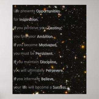Weg naar het succes poster