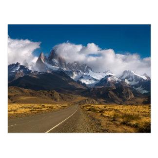 Weg om Fitzroy, Patagonië op te zetten Briefkaart