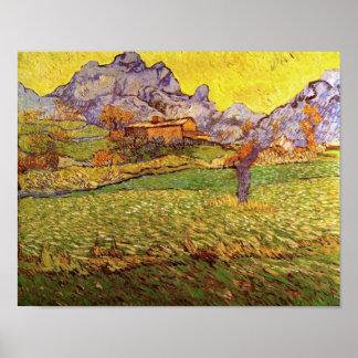 Weide in het Fine Art. van Bergen Van Gogh Poster
