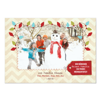 Weihnachten Foto-Karte Kaart