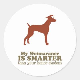 Weimaraner Ronde Sticker