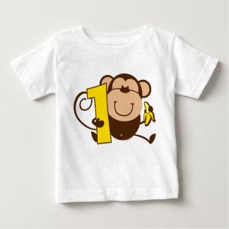 Weinig 1st Verjaardag Mero van de Aap Baby T Shirts
