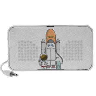Weinig Astronaut & Ruimteschip Laptop Speakers