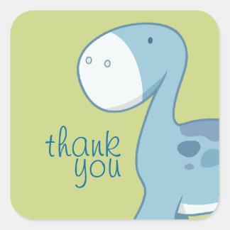 Weinig Blauwe Vierkante Diplodocus | dankt u Vierkante Sticker