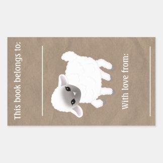 Weinig Boekmerk van het Lam Rechthoekige Stickers