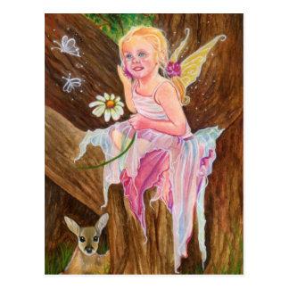 Weinig briefkaart van de fee fawn lente