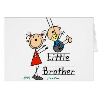 Weinig Broer met de Grote T-shirts van de Zuster Wenskaart
