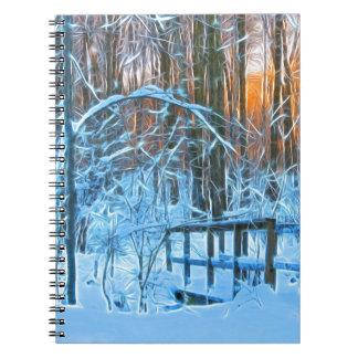 Weinig brug in het bos ringband notitieboek