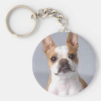 Weinig Bruin Boston Terrier Keychain Sleutelhanger